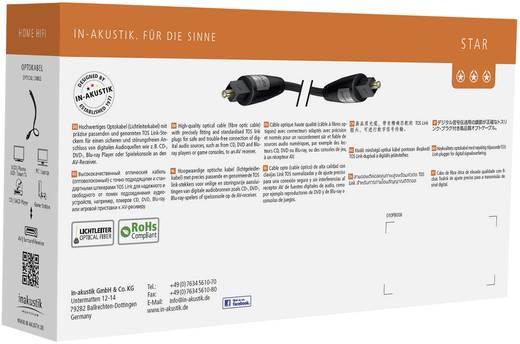 Toslink Digital-Audio Anschlusskabel [1x Toslink-Stecker (ODT) - 1x Toslink-Stecker (ODT)] 1.50 m Schwarz Inakustik