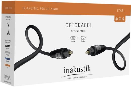 Toslink Digital-Audio Anschlusskabel [1x Toslink-Stecker (ODT) - 1x Toslink-Stecker (ODT)] 3 m Schwarz Inakustik