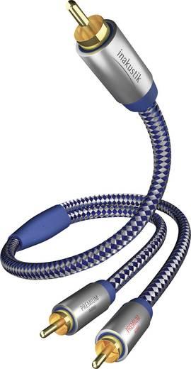 Inakustik Cinch Audio Anschlusskabel [2x Cinch-Stecker - 1x Cinch-Stecker] 2 m Blau, Silber vergoldete Steckkontakte