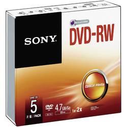 DVD-RW 4.7 GB Sony 5DMW47SS, prepisovateľné, 5 ks, Jewelcase