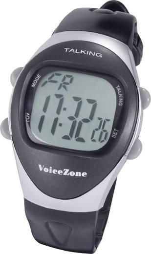 Quarz Armbanduhr WA-9910 (L x B x H) 55 x 41 x 15 mm Schwarz, Silber Gehäusematerial=Kunststoff Material (Armband)=Kunststoff