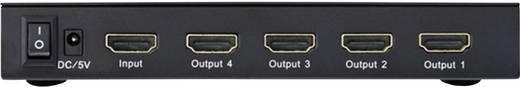 4 Port HDMI-Splitter Inakustik 4245114 Ultra HD-fähig, 3D-Wiedergabe möglich 3840 x 2160 Pixel Schwarz