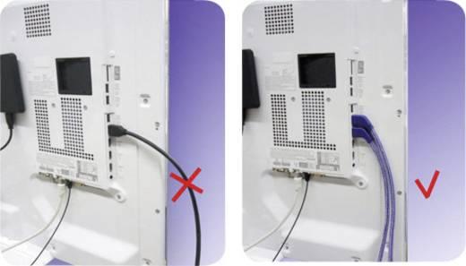 Inakustik Premium High Speed HDMI® Kabel mit Ethernet und 90° gewinkelten Steckern 1 m