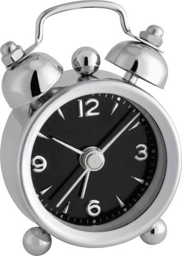 TFA 60.1000.01 Quarz Wecker Chrom Alarmzeiten 1