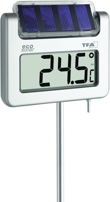 weiß solar Solarthermometer mit Hygrometer Thermometer