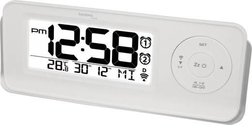 Funk Wecker Techno Line 09599 WT 498s Weiß Alarmzeiten 2