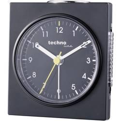 Analogový budík Techno Line Geneva Q, 75 x 85 x 45 mm, černá