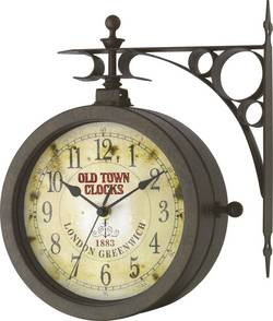 Analógové nástenné retro hodiny TFA OLD TOWN s teplomerom, Ø 20,5 cm