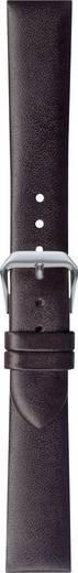 Uhrenarmband Leder 18 mm Glatt Dunkel-Braun