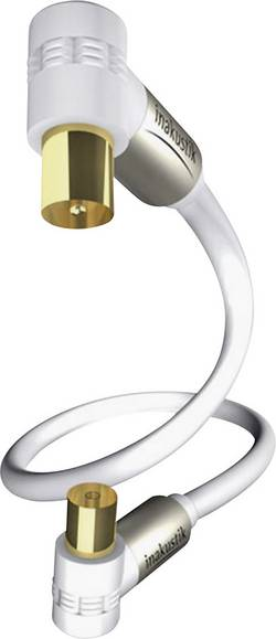 Anténni kabel Inakustik 004263015, 100 dB, pozlacené kontakty, 1.50 m, bílá