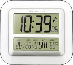 Digitální nástěnné DCF hodiny Techno Line WS 8006, 280 x 245 x 32 mm, bílá/stříbrná