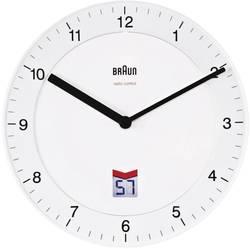 Analógové nástenné DCF hodiny Braun, 20 cm, biele