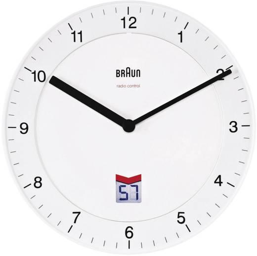 Braun BNC006 WHWH 66013 8 Funk Wanduhr 20 cm Weiß
