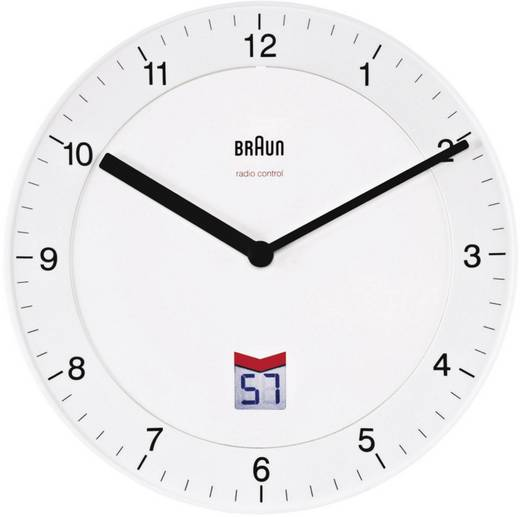 Funk Wanduhr Braun BNC006 WHWH 66013 8 20 cm Weiß