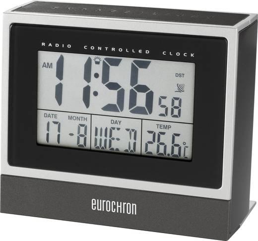 Eurochron C8239 Funk Wecker Schwarz/Silber Alarmzeiten 1