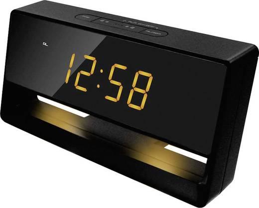 Techno Line WT 495 Quarz Wecker Schwarz Alarmzeiten 1