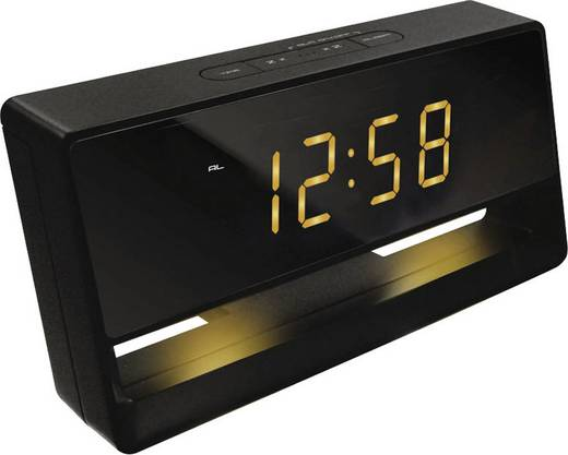 Quarz Wecker Techno Line WT 495 Schwarz Alarmzeiten 1