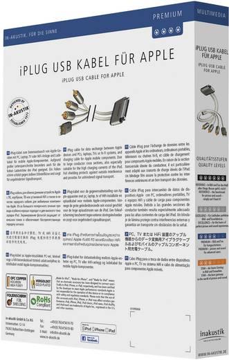 iPad/iPhone/iPod Audiokabel/Videokabel [3x Cinch-Stecker, USB 2.0 Stecker A - 1x Apple Dock-Stecker 30pol.] 2 m Weiß Inakustik