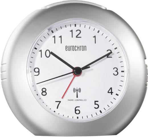 Eurochron EFW 5000 Funk Wecker Silber Alarmzeiten 1