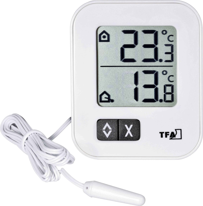 TFA Dostmann Terracheck Digitales Thermo-Hygrometer 30.5044.01 Kabelfühler mit