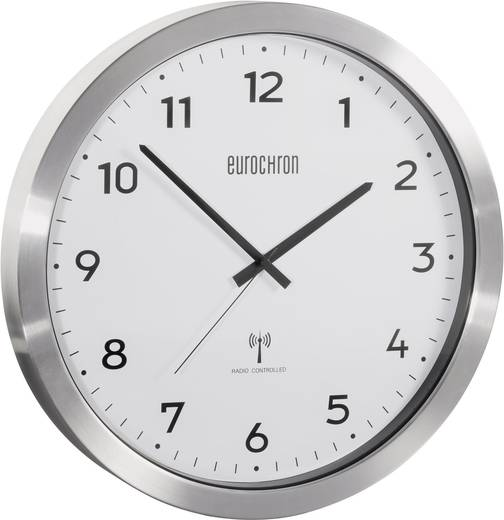 eurochron efwu 2600 funk wanduhr 38 cm aluminium geb rstet kaufen. Black Bedroom Furniture Sets. Home Design Ideas