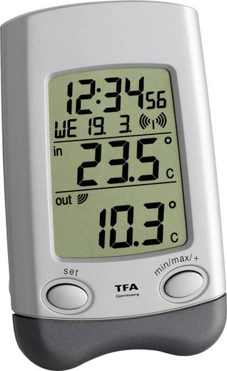 TFA Wave Funk-Thermometer Silber
