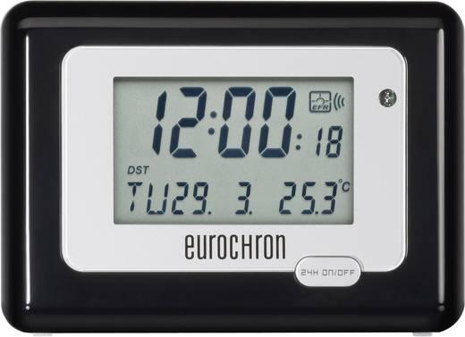 Eurochron HK 212 Funk Wecker Schwarz/Silber Alarmzeiten 1