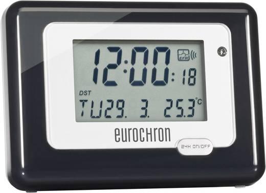 Funk Wecker Eurochron HK 212 Schwarz/Silber Alarmzeiten 1