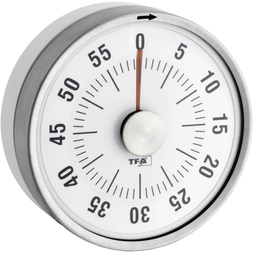 Minuteur rond de cuisine blanc tfa - Minuteur 10 minutes ...
