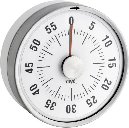 Timer TFA 38-1028-02 Puck Weiß analog