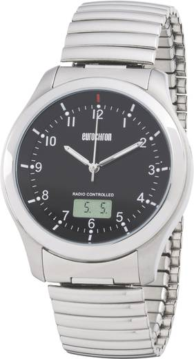 Funk Armbanduhr EFAU 1501 (Ø x H) 40 mm x 11 mm Silber Gehäusematerial=Edelstahl Material (Armband)=Edelstahl Eurochron