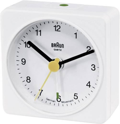 Quarz Wecker Braun 66001 Weiß Alarmzeiten 1