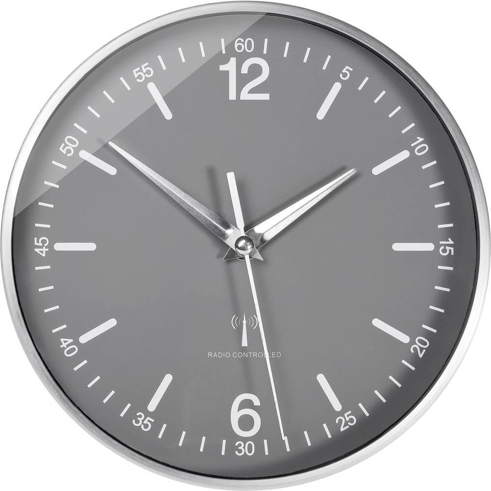 horloge murale radiopilot e tfa aluminium 19 5 cm x 5 cm sur le site internet conrad. Black Bedroom Furniture Sets. Home Design Ideas