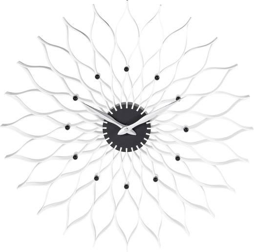 Quarz Wanduhr TFA 60.3009 50 cm x 5 cm Weiß