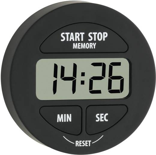 Timer TFA 38.2022.01 Schwarz digital