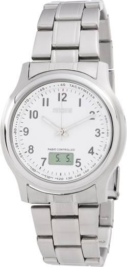Funk Armbanduhr EFAU 1502 (Ø x H) 40 mm x 11 mm Silber Gehäusematerial=Edelstahl Material (Armband)=Edelstahl Eurochron