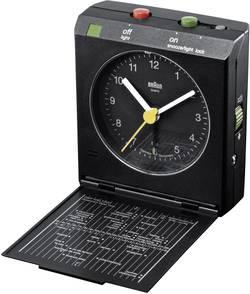 Analogový cestovní budík Braun Crescendo, 66024, 78 x 72 x 30 mm, černá