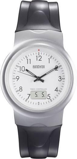Eurochron Funk Armbanduhr EFAU 2402 (Ø x H) 40 mm x 11 mm Silber Gehäusematerial=Aluminium Material (Armband)=Polyuretha