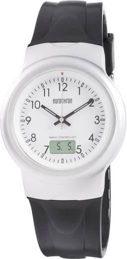 Funk Armbanduhr EFAU 2402 (Ø x H) 40 mm x 11 mm Silber Gehäusematerial=Aluminium Material (Armband)=Polyurethan Eurochron