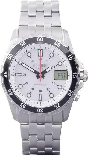 Funk Armbanduhr EFAUS 103 (Ø x H) 44 mm x 17 mm Edelstahl Gehäusematerial=Edelstahl Material (Armband)=Edelstahl Eurochr