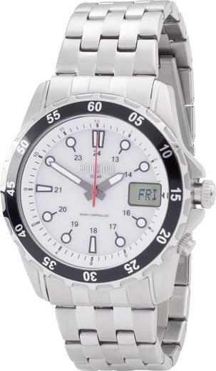 Eurochron Funk Armbanduhr EFAUS 103 (Ø x H) 44 mm x 17 mm Edelstahl Gehäusematerial=Edelstahl Material (Armband)=Edelsta