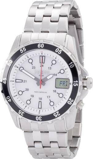 Funk Armbanduhr EFAUS 103 (Ø x H) 44 mm x 17 mm Edelstahl Gehäusematerial=Edelstahl Material (Armband)=Edelstahl Eurochron