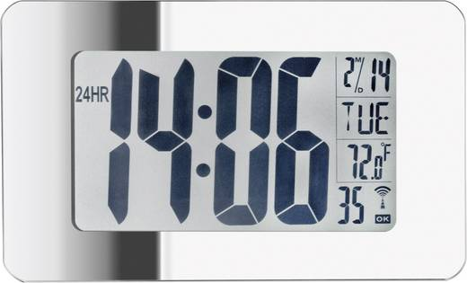 Funk-Wanduhr mit Spiegelglas EUS 95
