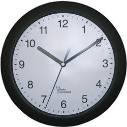 DCF nástěnné hodiny 56785, Vnější Ø 25 cm, černá