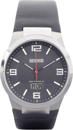 Funk Armbanduhr (Ø x H) 43 mm x 11 mm Silber Gehäusematerial=Titan Material (Armband)=Leder