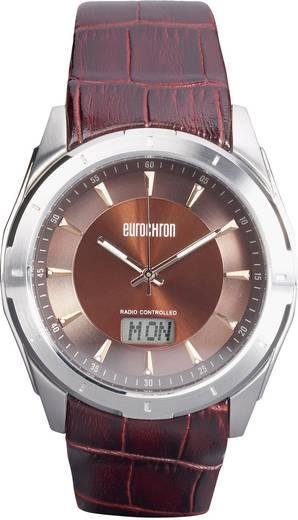Funk Armbanduhr SS 13310G04 (Ø x H) 44 mm x 12 mm Silber Gehäusematerial=Edelstahl Material (Armband)=Leder Eurochron