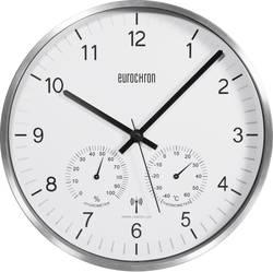 Analogové DCF hodiny s teploměrem a vlhkoměrem Eurochron EFWU 6400, stříbrná