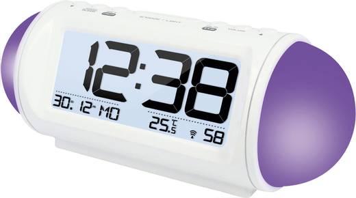 Funk Wecker Techno Line WT 499 Weiß Alarmzeiten 2