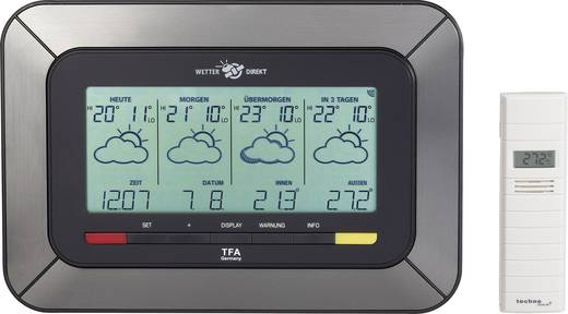 Satelliten Wetterstation TFA Twister 35.5047.IT Vorhersage für 4 Tage