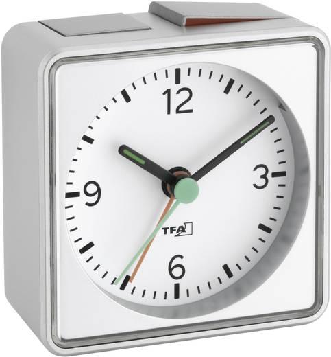 Quarz Wecker TFA 60.1013.54 Silber Alarmzeiten 1 Fluoreszierend Zeiger